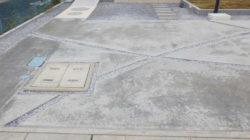 土間コンクリートの色ムラ